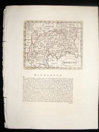 Seller & Grose C1780 Antique Map. Middlesex, London